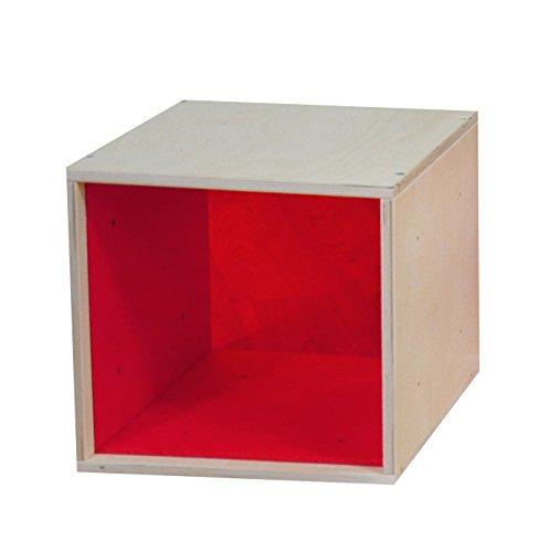 iCube das Regal mit roter Plexiglasscheibe in PREMIUM QUALITÄT