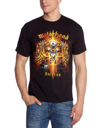 Collectors Mine Herren T-Shirt Motörhead-Inferno, Gr. 46 (S), Schwarz (Schwarz) -