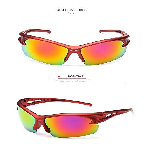 WY&WY 1Psc Ultra-leichte Sonnenbrille mit UV400 Linsen für Radfahren, Mountainbiken, Outdoor-Sport, Wandern,Gold
