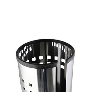 axentia Klopapierhalter Bustino für Badezimmer und Gäste-WC, Toilettenpapierhalter stehend, Bad-Accessoire für 3 Rollen Toilettenpapier, Edelstahl
