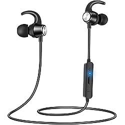 Auriculares Bluetooth, Gritin Auriculares Inalámbricos Bluetooth Deportivos Magnético In-Ear Estéreo 4.2 HiFi Manos Libre con Micrófono Anti-Sudor Reducción de Ruido para iOS Android Smartphones