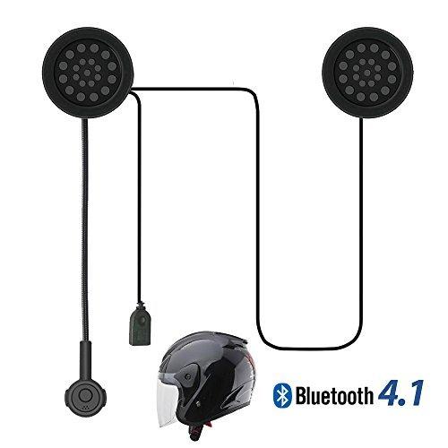 Radioddity Motorrad Helm Wireless Kopfhörer, Bluetooth 4.0 +EDR Intercom Headset, Lautsprecher Hand Befreit, Musik Anruf Sprachsteuerung durch Handy