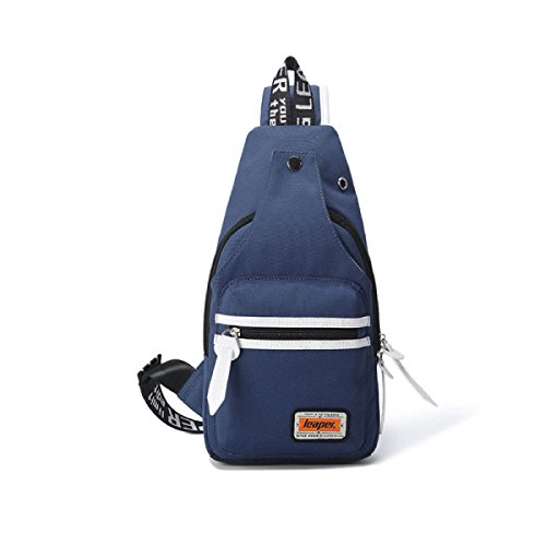BULAGE Taschen Lässig Brusttasche Herren- Schulranzen Messenger Oxford Diagonal Studenten Schulter Kleine Zarte Atmungsaktiv Darkblue