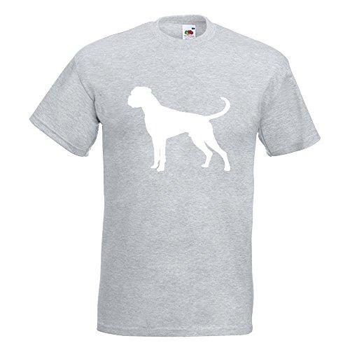 KIWISTAR - Deutscher Boxer German Hund T-Shirt in 15 verschiedenen Farben - Herren Funshirt bedruckt Design Sprüche Spruch Motive Oberteil Baumwolle Print Größe S M L XL XXL Graumeliert