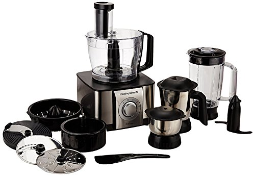 Morphy Richards Icon Dlx 1000-Watt Food Processor,Black