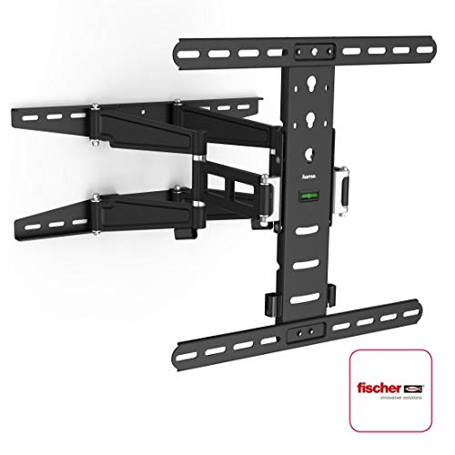 Hama TV-Wandhalterung Ultraslim (neigbar, schwenkbar, vollbeweglich für Fernseher von 32 - 55 Zoll (81 cm bis 142 cm Diagonale), inkl. Fischer Dübel, VESA bis 400x400, max. 35 kg) schwarz