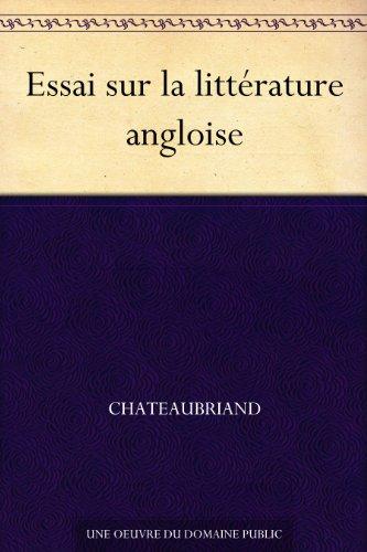 Couverture du livre Essai sur la littérature angloise