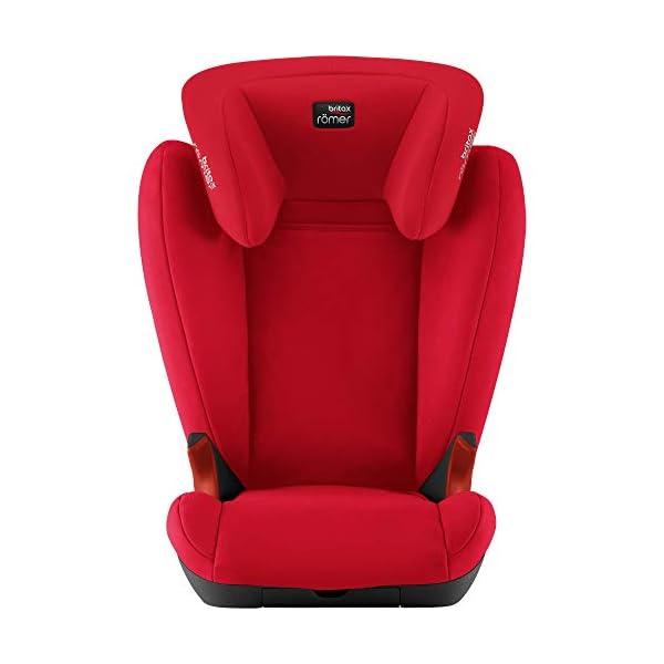 Britax Römer KID II BLACK SERIES Group 2-3 (15-36 kg) Car Seat - Fire Red Britax Römer High back booster protection Easy adjustable, ergonomic headrest Adjustable v-shaped backrest 3