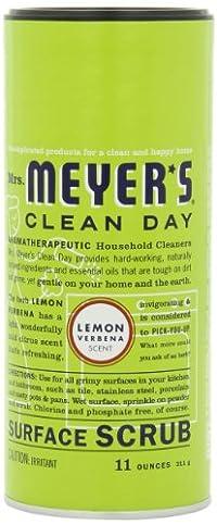 Lemon Verbena : Mrs. Meyer's Clean Day Surface Scrub, Lemon Verbena, 11 Ounce Canister