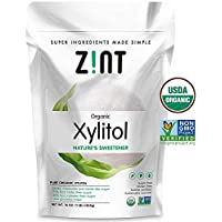 Zint Xylitol Natural Sweetener 1 lb - Certified Halal Non-GMO - Healthier Sugar Replacement