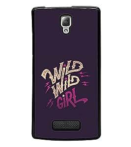 printtech Wild girl Back Case Cover for Lenovo A2010