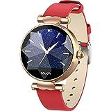 MMLC Bluetooth Smartwatch Fitness Uhr Intelligente Armbanduhr Fitness Tracker Smart Watch Sport Uhr mit Kamera Schrittzähler Schlaftracker Romte Capture Kompatibel mit Android Smartphone (Red)