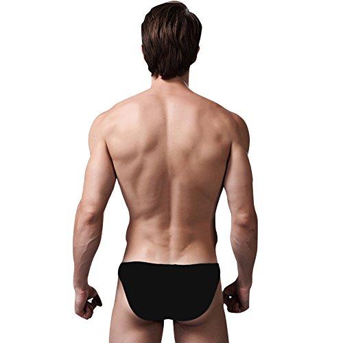 VENIMASEE Sexy atmungsaktiv Modal Unterw?sche der Herren Kurz, 5 Farben, M-XXL, Preise / Piece, Geschenk-Idee Schwarz