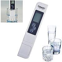 KOBWA - Juego de 4 medidores Digitales de Calidad del Agua precisos y fiables, medidor TDS, medidor de Temperatura y Temperatura 3 en 1 para Acuario, Piscinas, Hidroponía, Cerveza, Vino y Alimentos