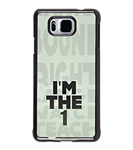 iFasho I am the one good quote on confidence Back Case Cover for Samsung Galaxy Alpha