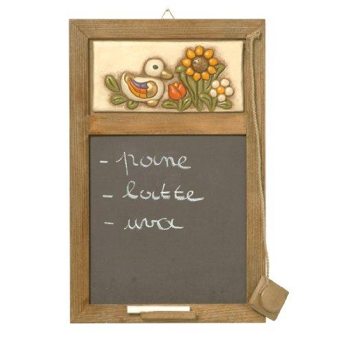 Thun Dekorative Objekte Tafel mit Blumen Country, Keramik, bunt
