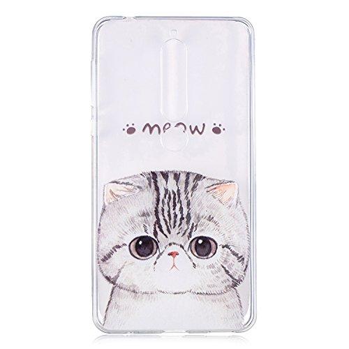 Cozy Hut Nokia 6 2018 / Nokia 6.1 Hülle Case, Kratzfeste Plating TPU Silicone Case Schutzhülle Ultra Dünn Tasche für mit Nokia 6 2018 / Nokia 6.1 Hülle Case Transparent - Kätzchen -