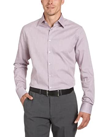 Seidensticker Herren Businesshemd 225610, Gr. 38, Mehrfarbig (43 (Streifen rot))