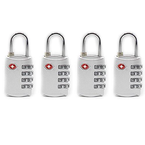 Newtion Tsa Lock 4 dígitos combinación TSA aprobado bloqueo para equipaje candado 4 Pack