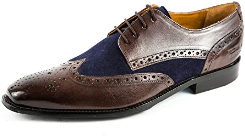 Melvin & Hamilton MH15-332 - Zapatos de Cordones de Piel Lisa para Hombre Azul Azul 41 EU -