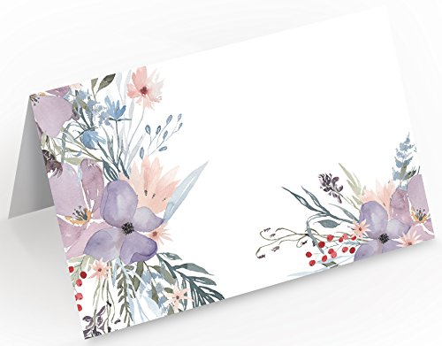 Tischkarten | Platzkarten | Lila Blumen - 2