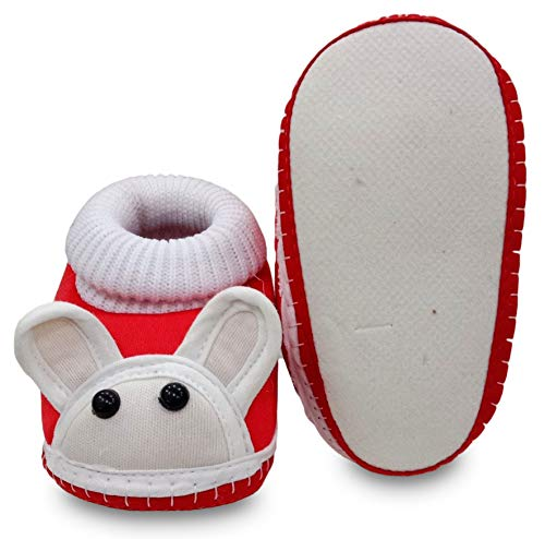 Tavish 3-10 Months Baby Shoes with Anti-Slip Sole Suitable for Both boy and Girl in Design - Combo of 2 Green, Red