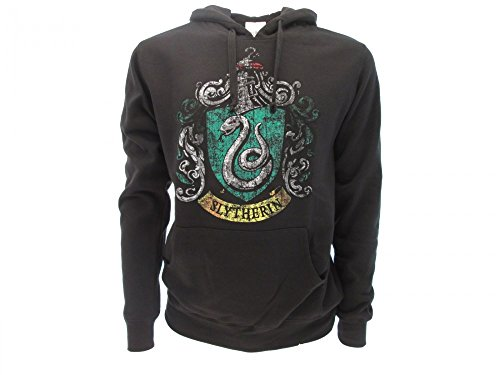 Harry Potter Hoodie Hooded Sweatshirt Slytherin House Crest - 100% Official Warner Bros