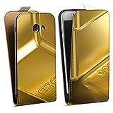 DeinDesign Tasche kompatibel mit Samsung Galaxy A5 Duos 2017 Flip Case Hülle Goldbarren Gold Barren