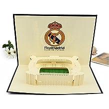 BC Worldwide Ltd Tarjeta pop-up 3D Fútbol español Real Madrid Estadio Santiago Bernabéu cumpleaños