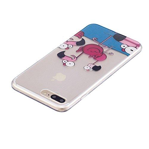 """Hülle für Apple iPhone 7 Plus , IJIA Transparente Niedlich Einhorn TPU Weich Silikon Stoßkasten Cover Handyhülle Schutzhülle Handytasche Schale Case Tasche für Apple iPhone 7 Plus (5.5"""") (WM111) WL7"""