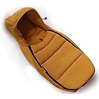 Hot mom® Passeggino e culla standard in fibra di carbone di bambù, dotato di sacco a pelo per bambini da 0 a 6 mesi, colore: giallo - Bambù Passeggino
