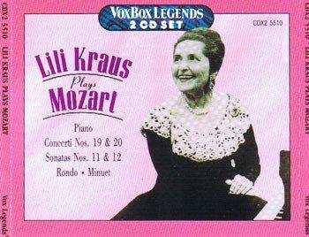 LILI KRAUS spielt MOZART - Piano (2 CD Box)