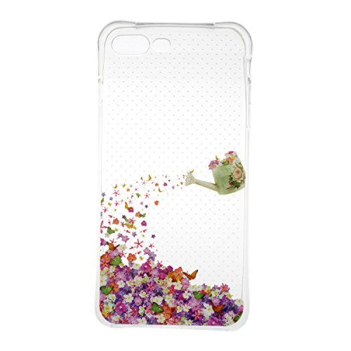 iPhone 7 Plus hülle Case Cozy Hut Ultra Hybrid TPU Bumper for iPhone 7 Plus Hülle Schutzhülle Shock Absorption Plating TPU Case Silicone Cover für iPhone 7 Plus (5,5 Zoll) (2016) - Lotus Blühende Blume