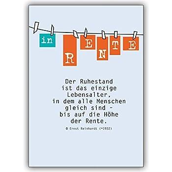 1 Renten Karte: Renten Glückwunschkarte: Der Ruhestand