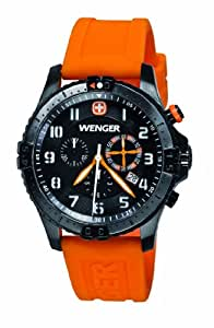 Wenger Herren-Armbanduhr XL Squadron Rescue Chronograph Quarz Silikon 60758