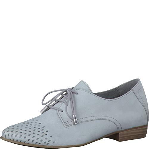 Tamaris Schuhe 1-1-23203-28 Bequeme Damen Schnürer, Schnürschuhe, Halbschuhe, Sommerschuhe für modebewusste Frau, grau (Cloud), EU 39