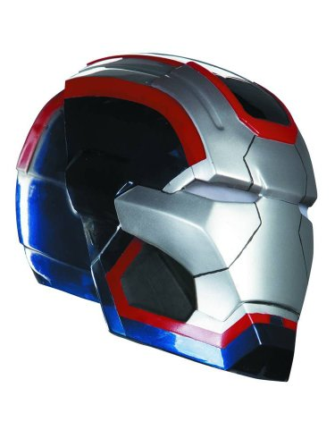 Disguise 216955 Iron Man 3 Patriot Adult Helm Blau-Silver One-Size (Die Bad News Bears)