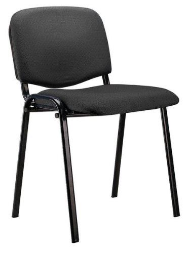 Adec - Silla confidente iso, medidas 54 x 55 x 80 cm, color negro