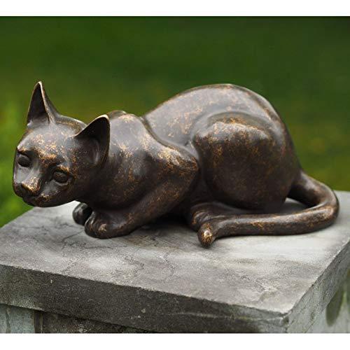 H. Packmor GmbH Sehr schöne Bronzefigur Einer kleinen liegenden Katze aus Bronze gefertigt