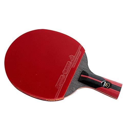 BOER Tischtennisschläger, Kurzer Griff, Langer Griff, 6 Sterne Tischtennisschläger, Outdoor, Professionelle Tischtennisschläger (1pcs Tischtennisschläger)