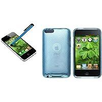 Funda Carcasa TPU GEL Azul Claro+Pen Lapiz Para Apple iPod Touch 2 2th 3 3th Gen