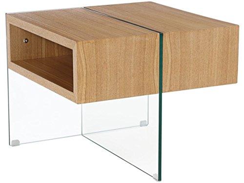 Habitat et Jardin - Table Basse Venezia - 60 x 60 x 50 cm - Finition chêne