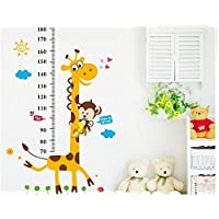 Animal Height Chart Measure Kids/Children Wall Sticker Art Decal Stickers Decal DIY
