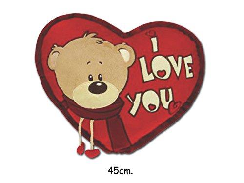 San valentino - teddy bears cuscino peluche morbido - 43cm.
