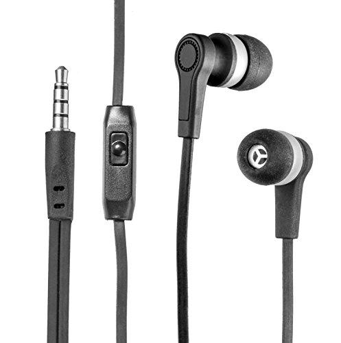 yayago InEar Stereo Headset schwarz für ZTE Open 2 / Open C 3,5 mm Klinkenanschluss Schwarz