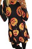 Vestido de la túnica de Halloween de Las Mujeres Calabaza Calavera Fantasma Telaraña Party Disfraces 5 M