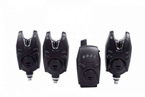 Prologic Firestarter Pro Alarm Kit 3+1 Bissanzeiger Set zum Karpfenangeln,  Funkbissanzeiger mit Receiver