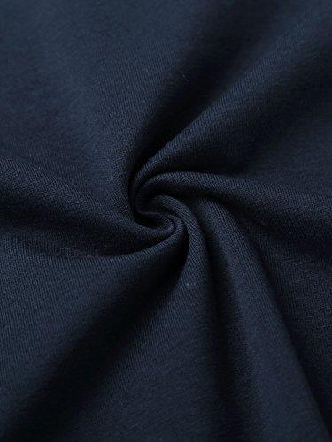 KAIUSI Herren Rundkragen Streifen Langarmshirt Blau-Weiss