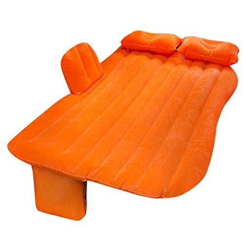 Auto Luftbett, LeeMon Auto aufblasbare Luftmatratze/Camping Inflation Bett/Reise Luftmatratze (Orange) -