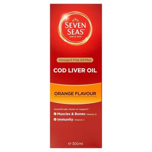 Artikelbild: Seven Seas Cod Liver Oil Liquid Orange Syrup x 300ml